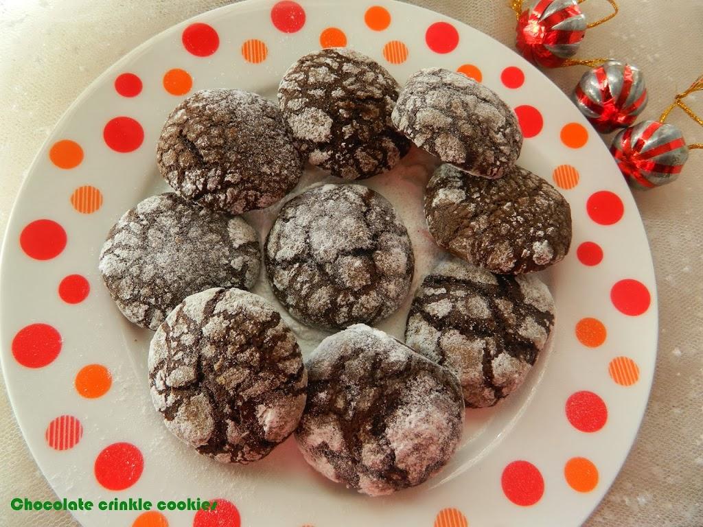 Chocolate Crinkle Cookies,Christmas Special | Geeths Dawath