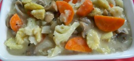 Mixed vegetables in creamy sauce