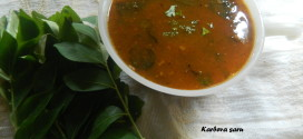 Karbeva saru,Curry leaves soup