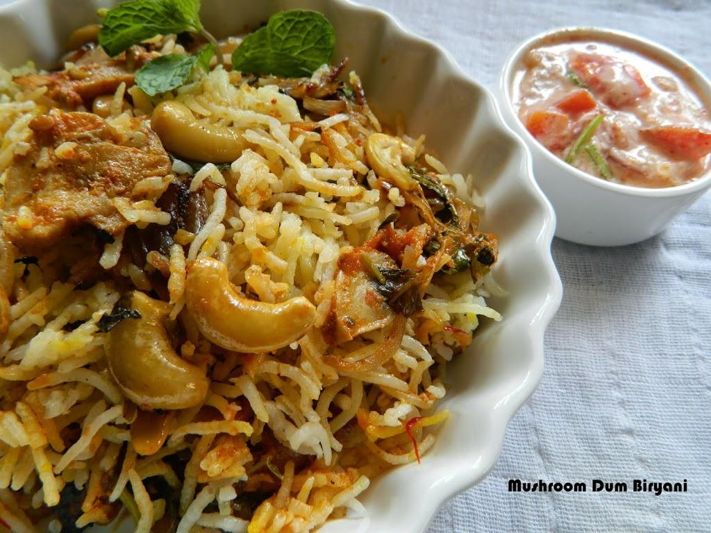 Mushroom dum biryani in sanjeev kapoors style geeths dawath mushroom dum biryani in sanjeev kapoors style forumfinder Image collections