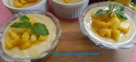 Eggless mango Pannacotta