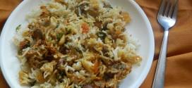 Lucknowi Mushroom Biryani