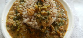 Shrimps and spinach curry / Sungat galnu vali ambat