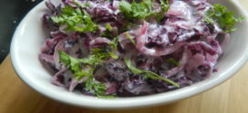 Purple cabbage raita/kachumbar/kosumbari