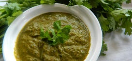 Kothambari palye gojju/Coriander leaves Indian style sauce