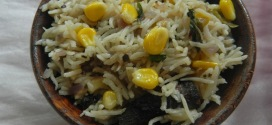 Sweetcorn Pulao with stepwise pictures