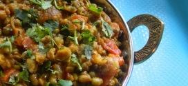 Hari Moong Masala,Green gram curry