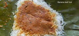Banana leaf rice , Mangalorean special