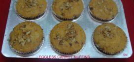 Eggless carrot cupcake